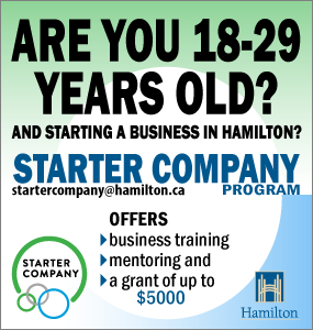 Are you 18-29 and starting a company in Hamilton? The City of Hamilton Starter Company Program can help.